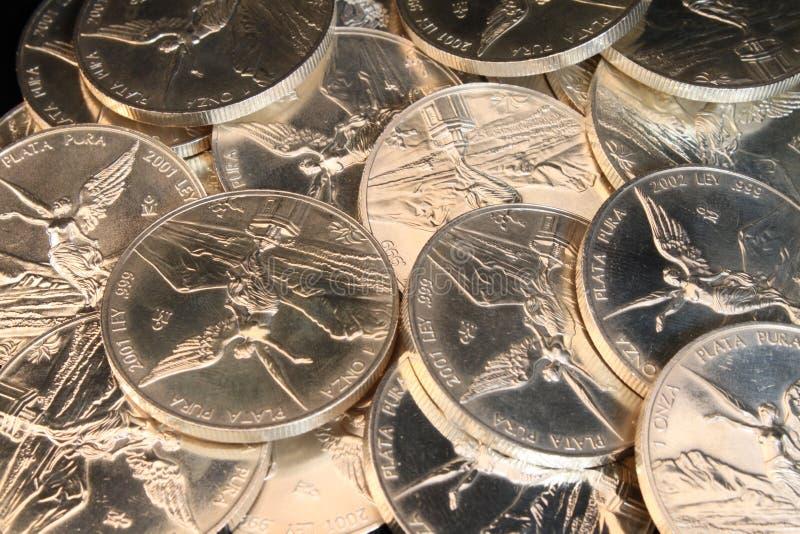背景银币合金 免版税库存照片