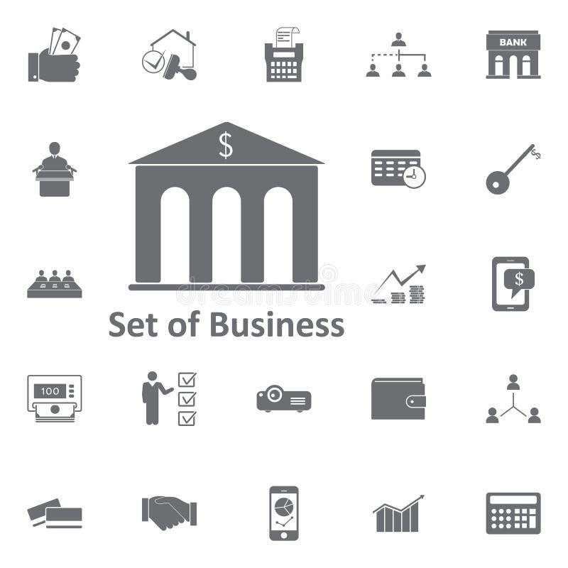 背景银行大楼图标查出的白色 简单的元素例证 ai企业cs2 eps图标包括 库存例证