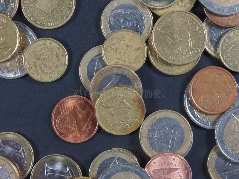背景铸造欧元 库存照片
