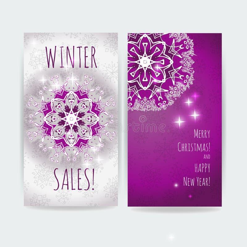 背景销售额文本向量冬天 圣诞节设计传染媒介印刷品艺术品模板 皇族释放例证