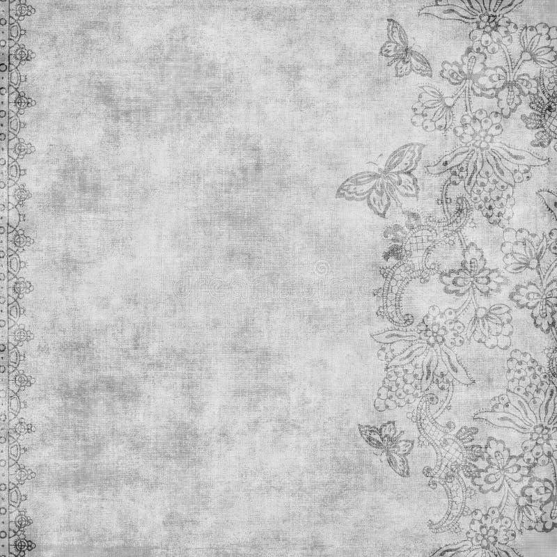 背景锦缎花卉脏的剪贴薄葡萄酒 向量例证