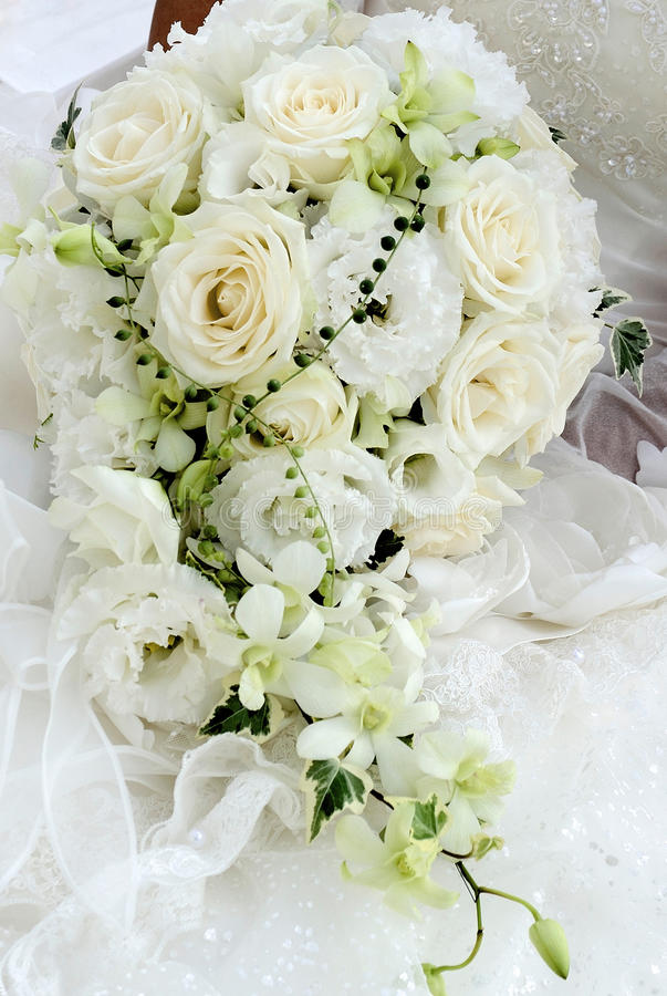 背景镜象婚礼白色 图库摄影
