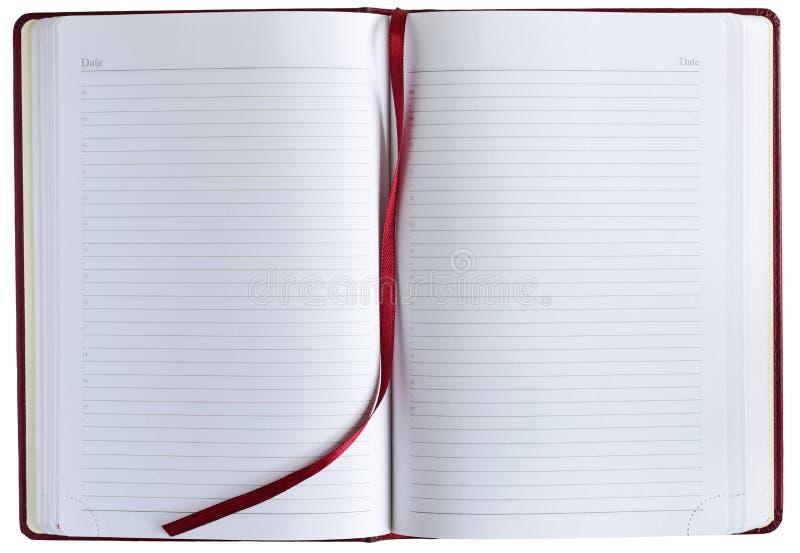 背景镜象查出的笔记本白色 免版税图库摄影