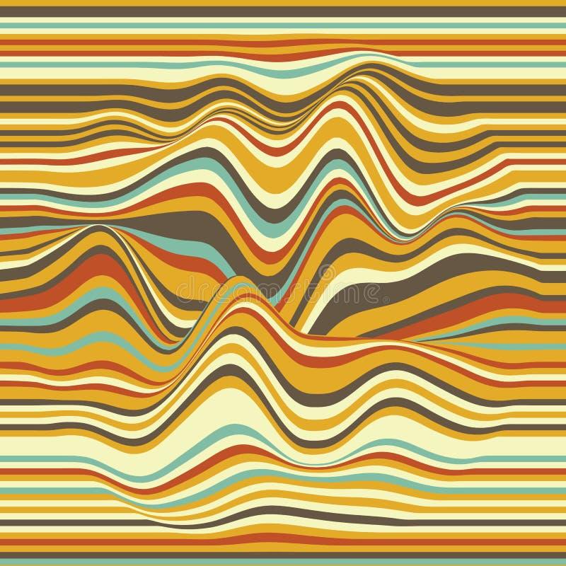背景镶边向量 抽象颜色通知 声波动摆 质朴的卷曲的线 典雅的波浪纹理 皇族释放例证