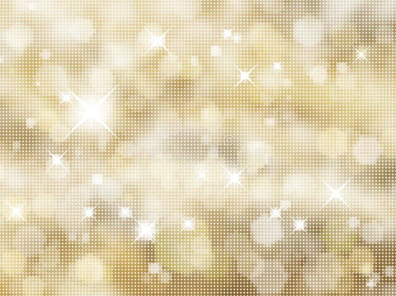 背景闪光金子 向量例证
