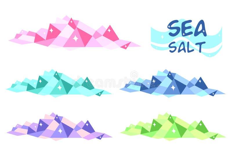 背景闭合的构成盐海运 向量例证