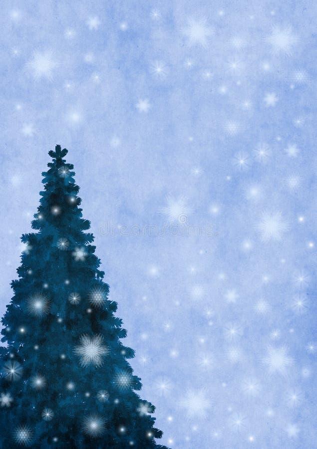 背景降雪 向量例证