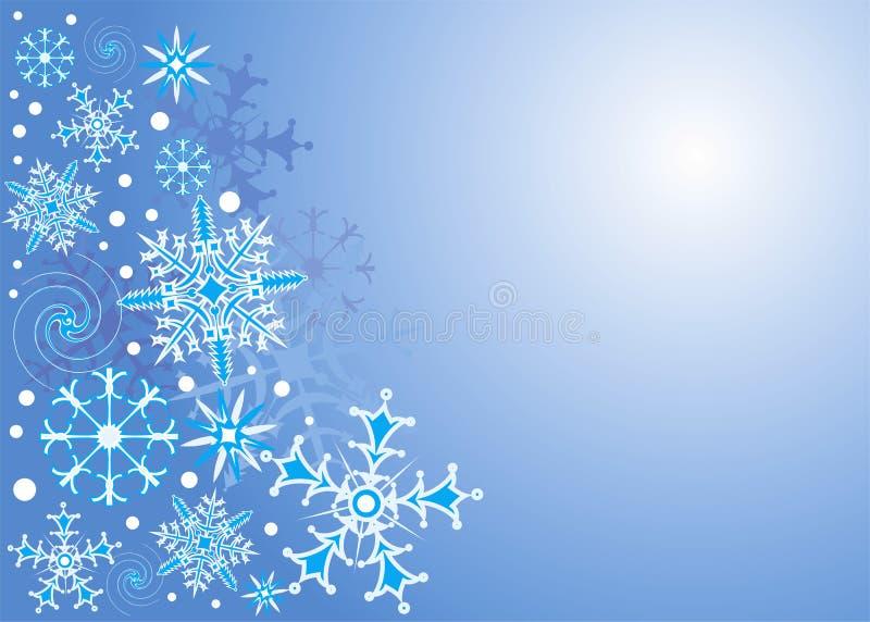 背景雪花向量 向量例证