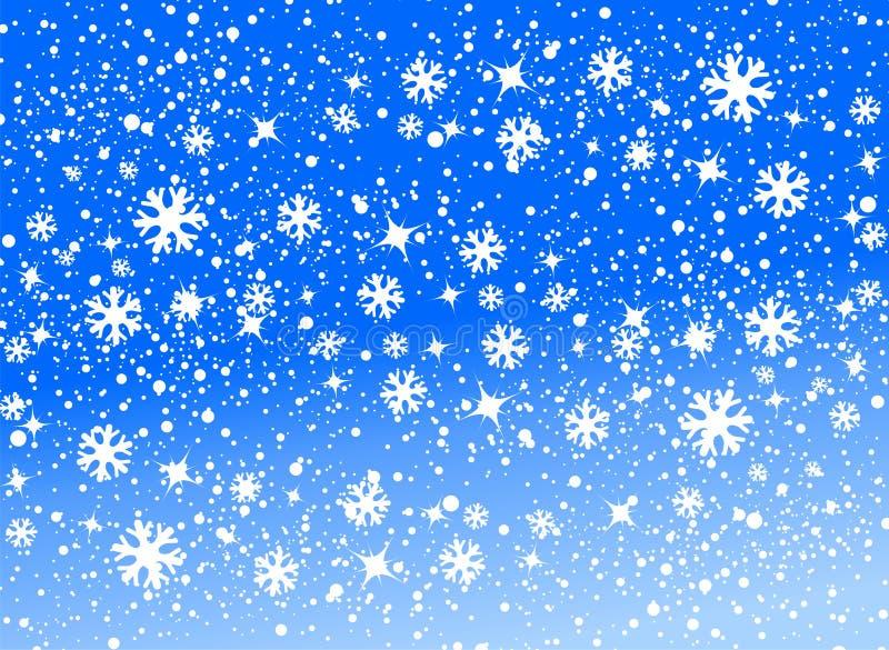 背景雪 向量例证