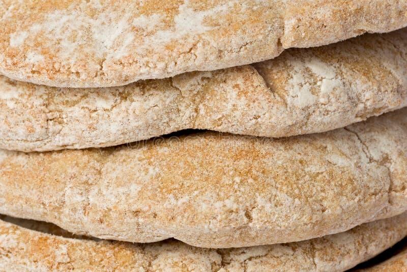 背景面包pita 免版税图库摄影