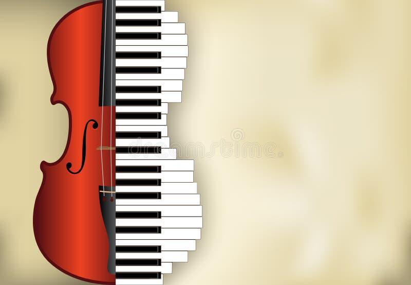 背景音乐向量 库存例证