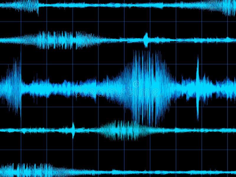 背景音乐波形形式 皇族释放例证