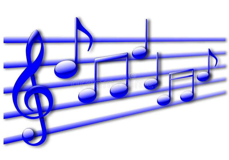 背景音乐音符 向量例证