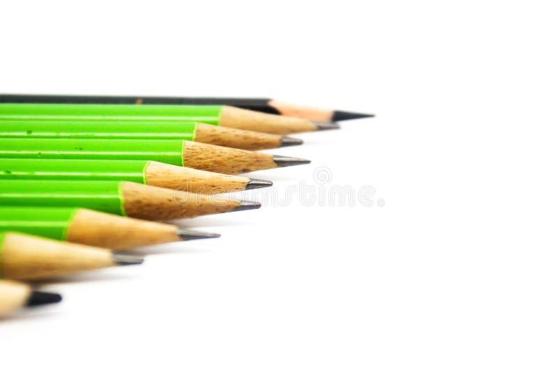 背景颜色上色了查出的铅笔铅笔空白 关闭 免版税库存照片