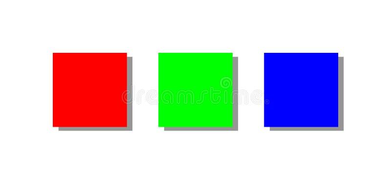 背景颜色查出rgb白色 库存例证