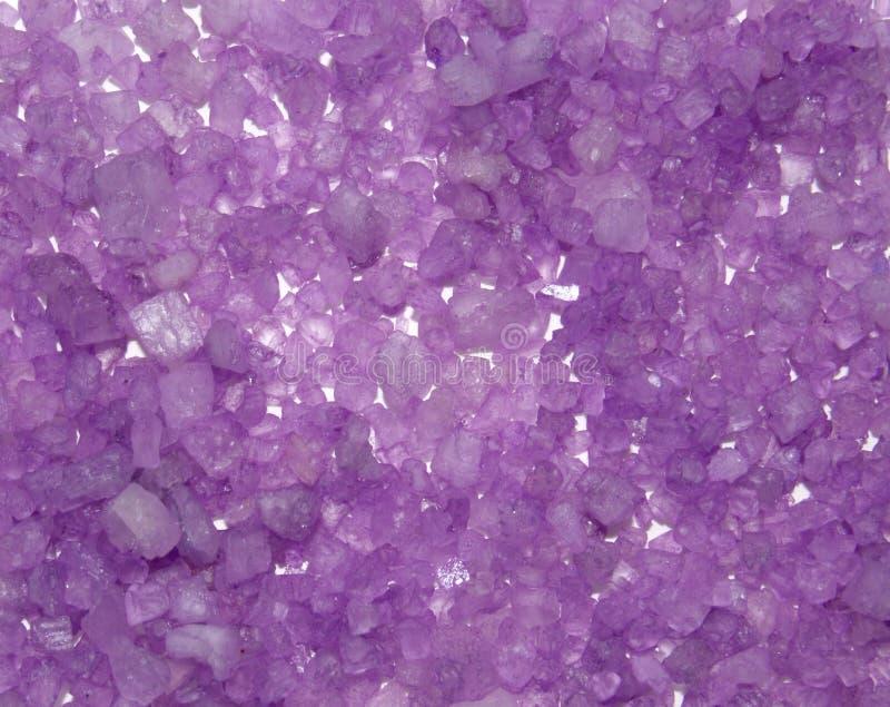 背景颜色水晶盐溶海运 免版税库存照片