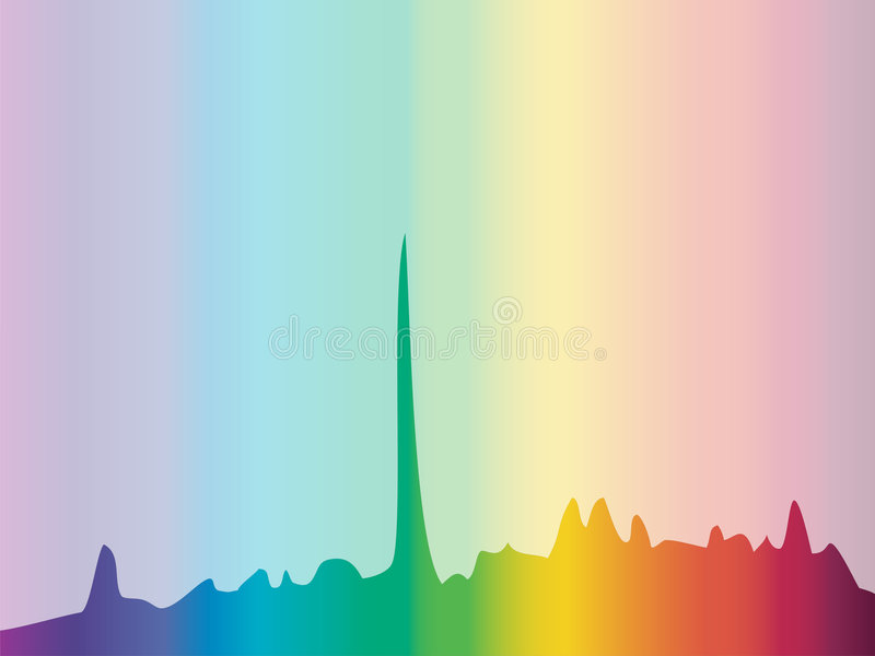 背景颜色绘制光谱 库存例证