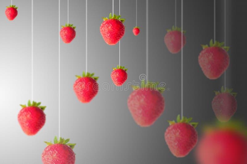 背景食物系列草莓 免版税库存照片