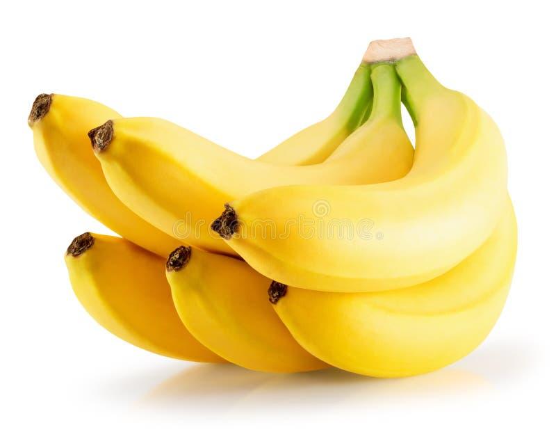 背景香蕉模糊的查出的白色 图库摄影