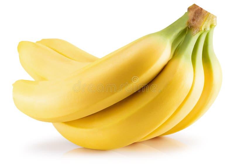 背景香蕉模糊的查出的白色 库存照片