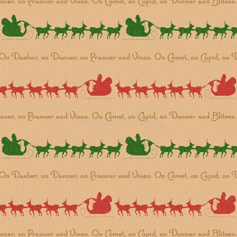 背景驯鹿圣诞老人 向量例证