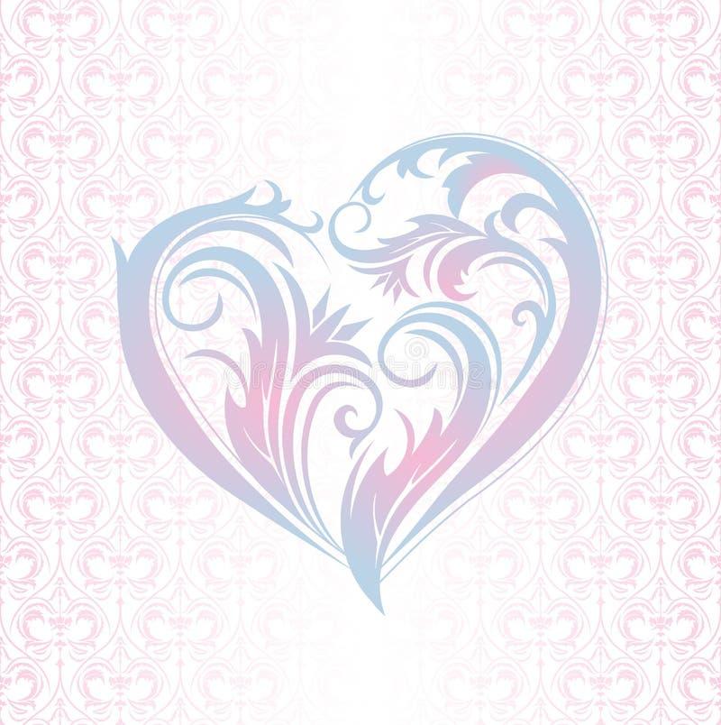 背景高雅重点邀请浪漫符号温暖的婚礼 皇族释放例证