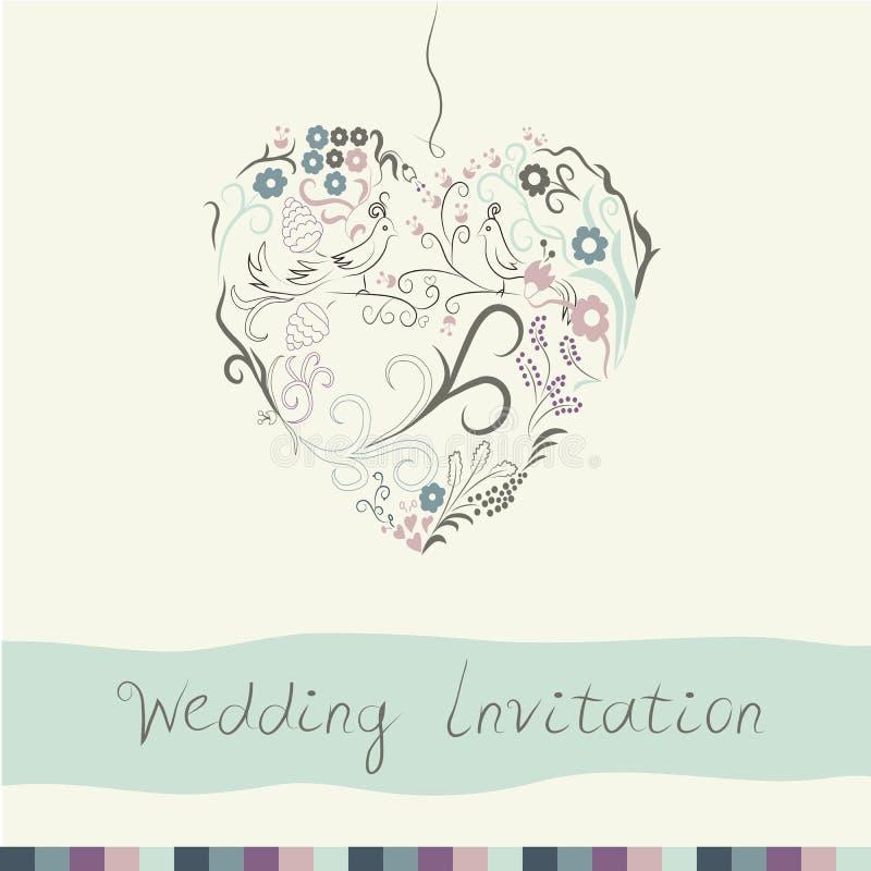 背景高雅重点邀请浪漫符号温暖的婚礼 库存例证