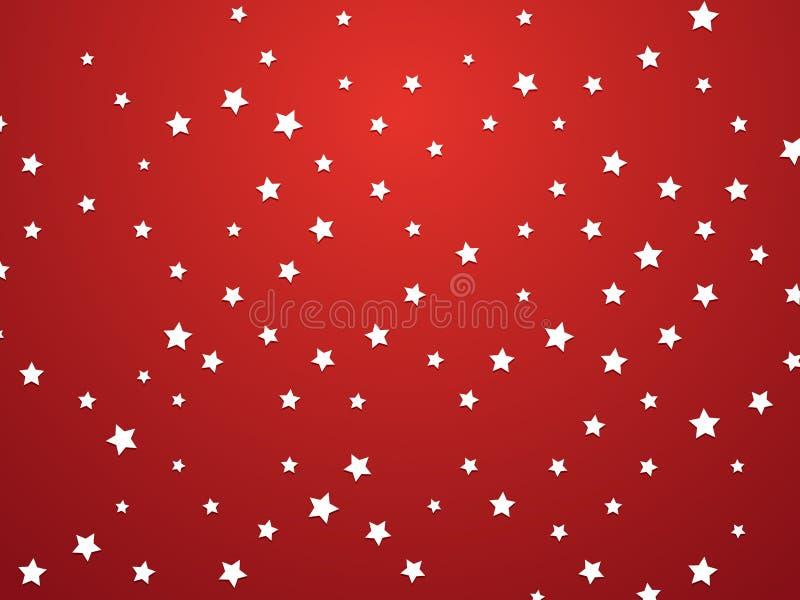背景魅力红色星形 皇族释放例证