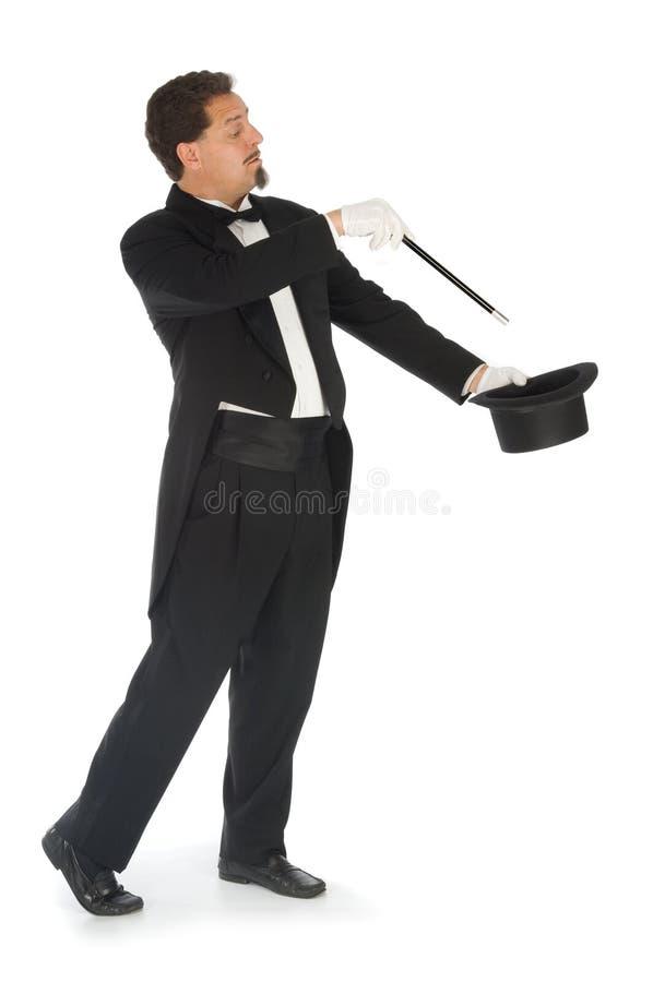 背景魔术师白色 免版税库存图片