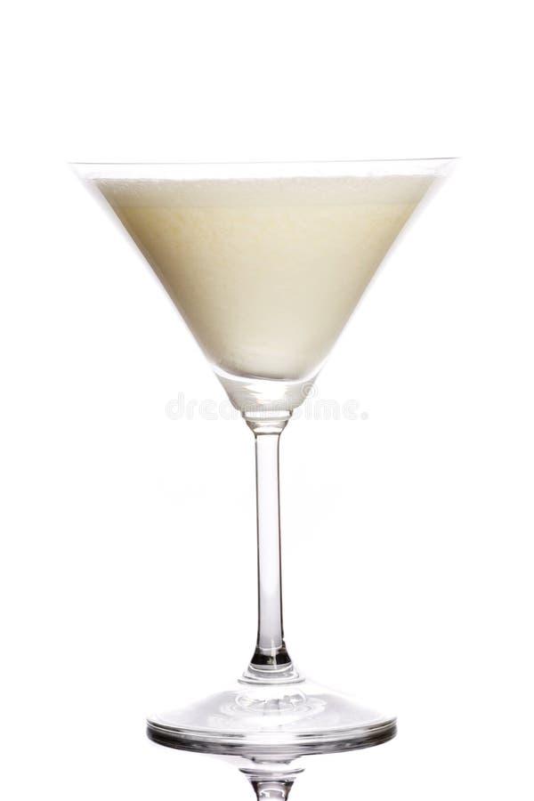 背景鸡尾酒查出的白色 库存照片