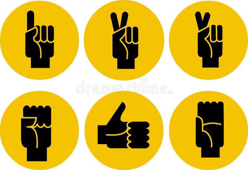 背景黄色黑手党的图标被设置 库存例证