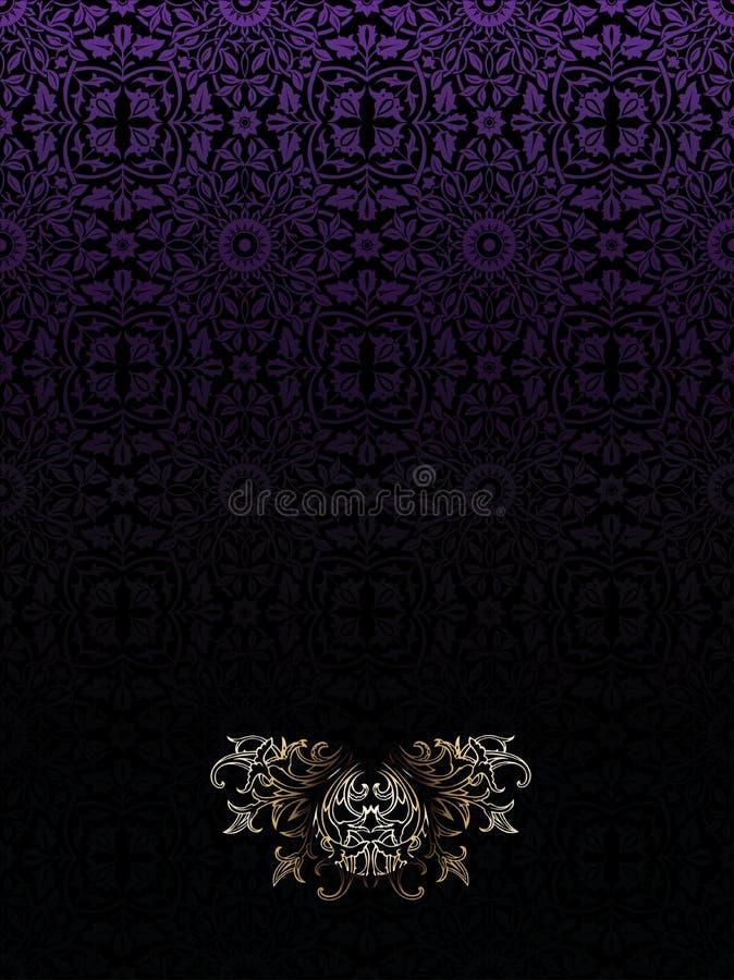背景黑暗的高华丽紫色葡萄酒 皇族释放例证