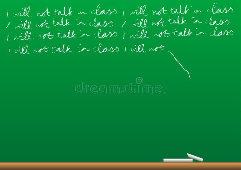 背景黑板 向量例证