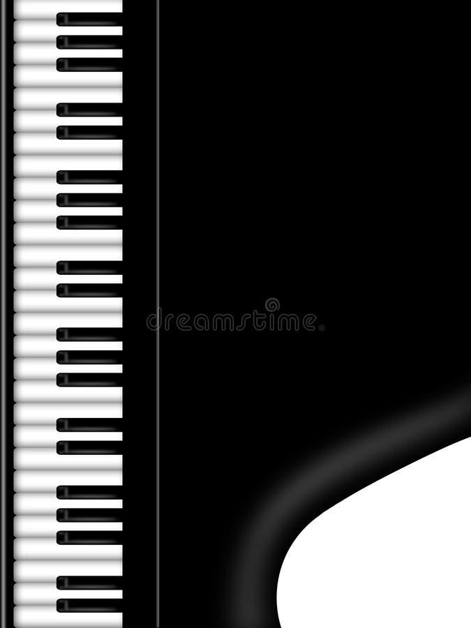 背景黑色全部关键董事会钢琴白色 库存例证