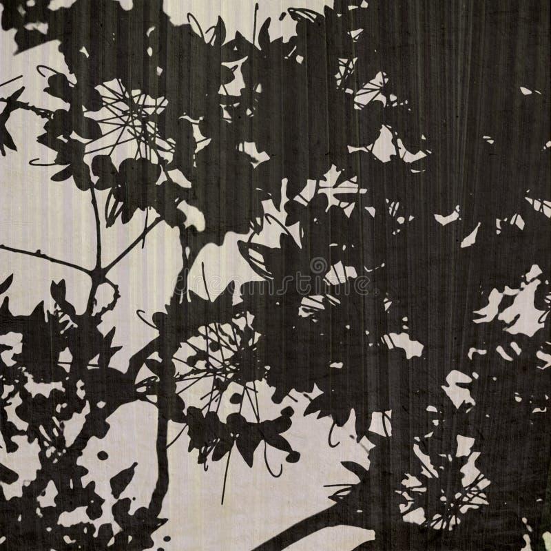 背景黑色叶子苍白打印 库存照片