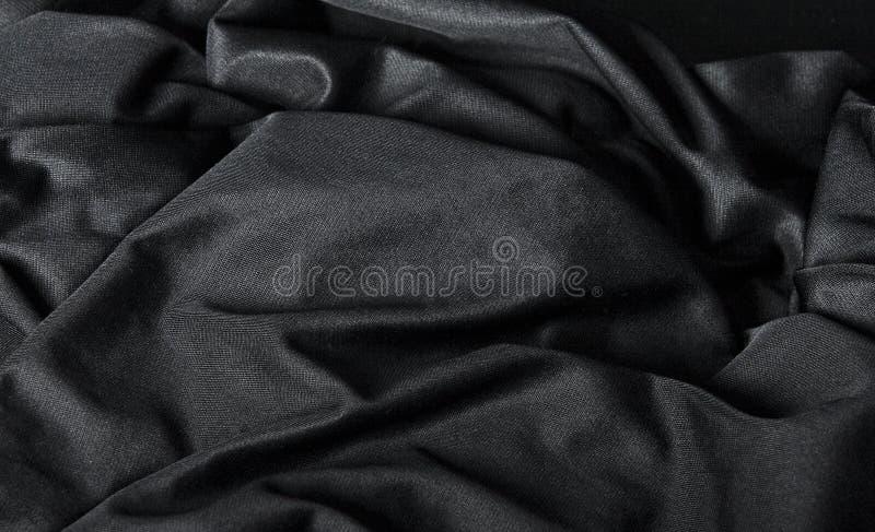 背景黑色布料 库存图片