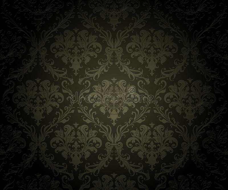 背景黑色无缝的墙纸 库存例证