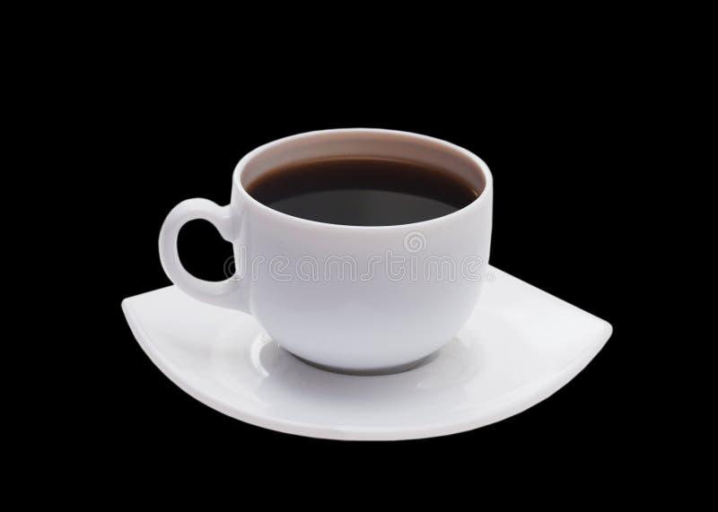 背景黑色杯子查出的白色 免版税库存图片