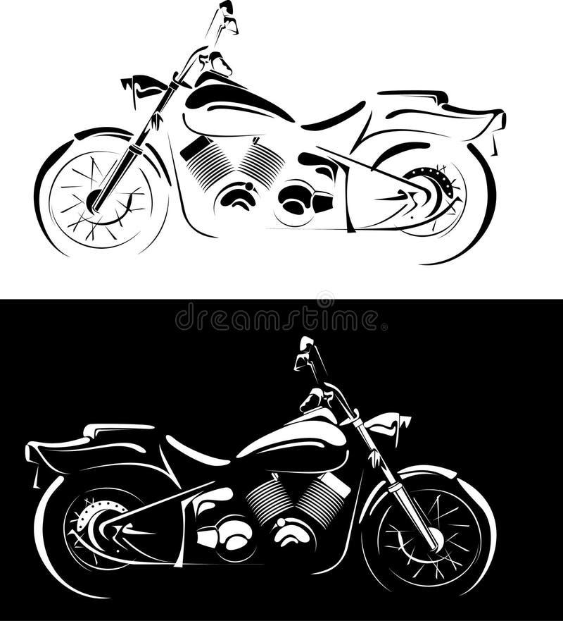 背景黑色查出的motobike白色 皇族释放例证