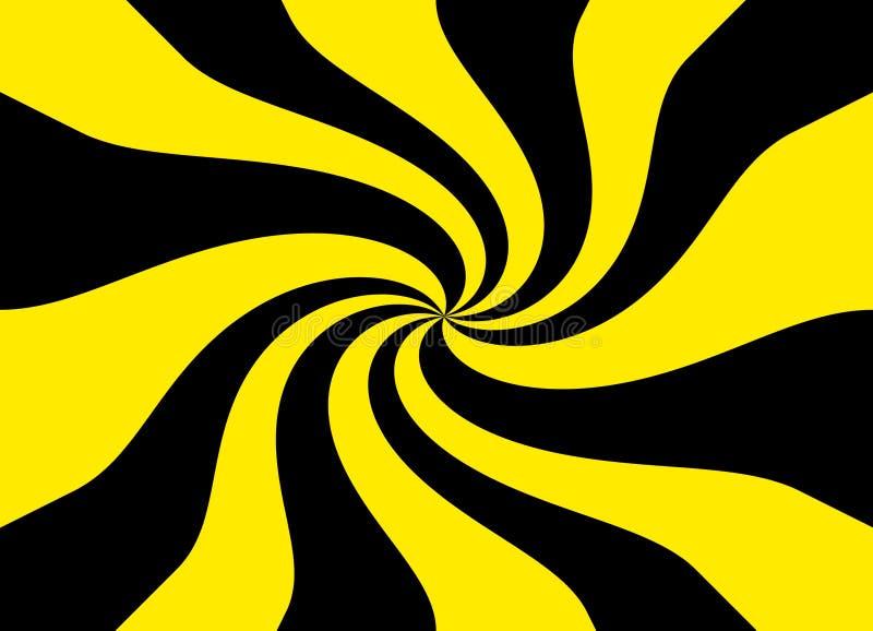 背景黑色模式纹理黄色 向量例证