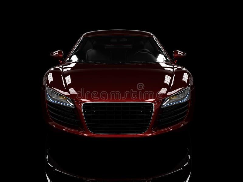 背景黑色汽车查出的现代红色 库存例证