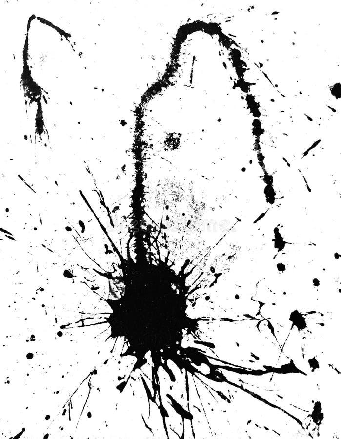 背景黑色油漆飞溅 免版税库存照片