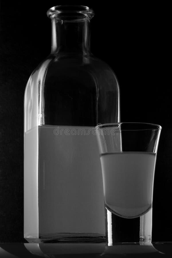 背景黑色玻璃 库存照片