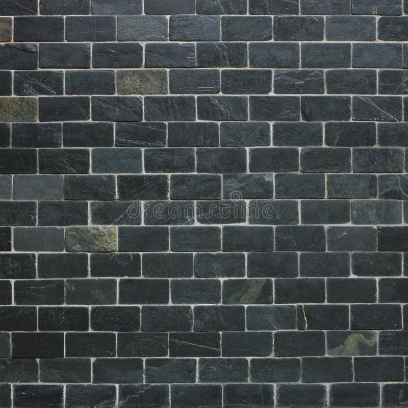 背景黑色砖墙 图库摄影