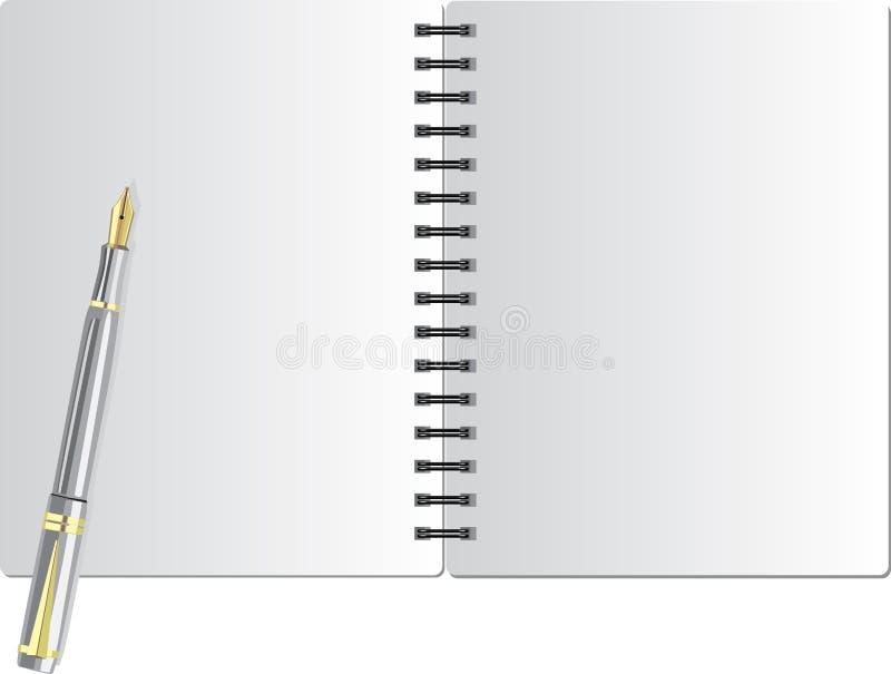 背景黑色笔记本春天w 库存例证