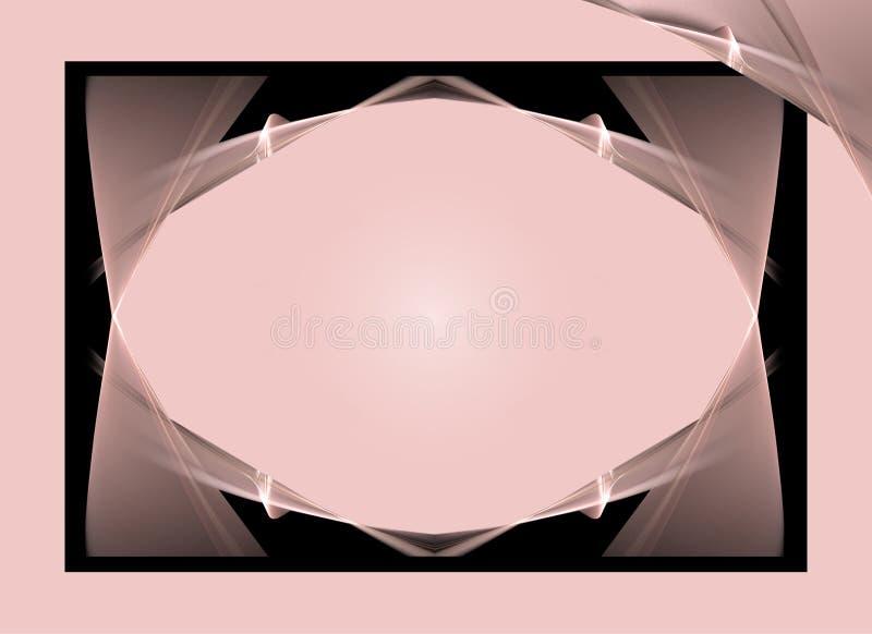 背景黑色粉红色 皇族释放例证