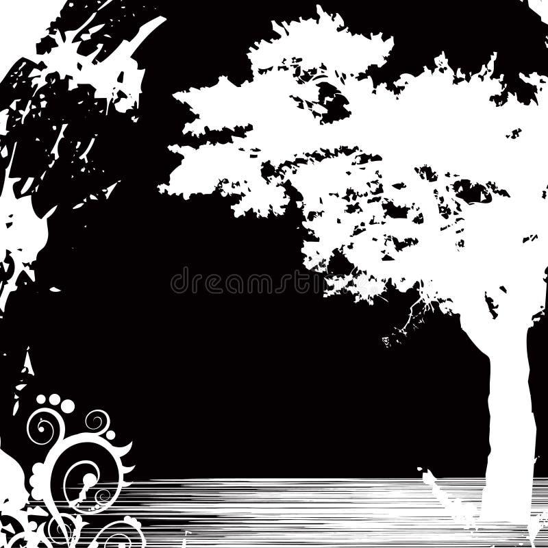 背景黑色结构树 库存例证