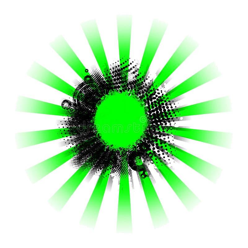 背景黑色绿色grunge光芒 库存照片