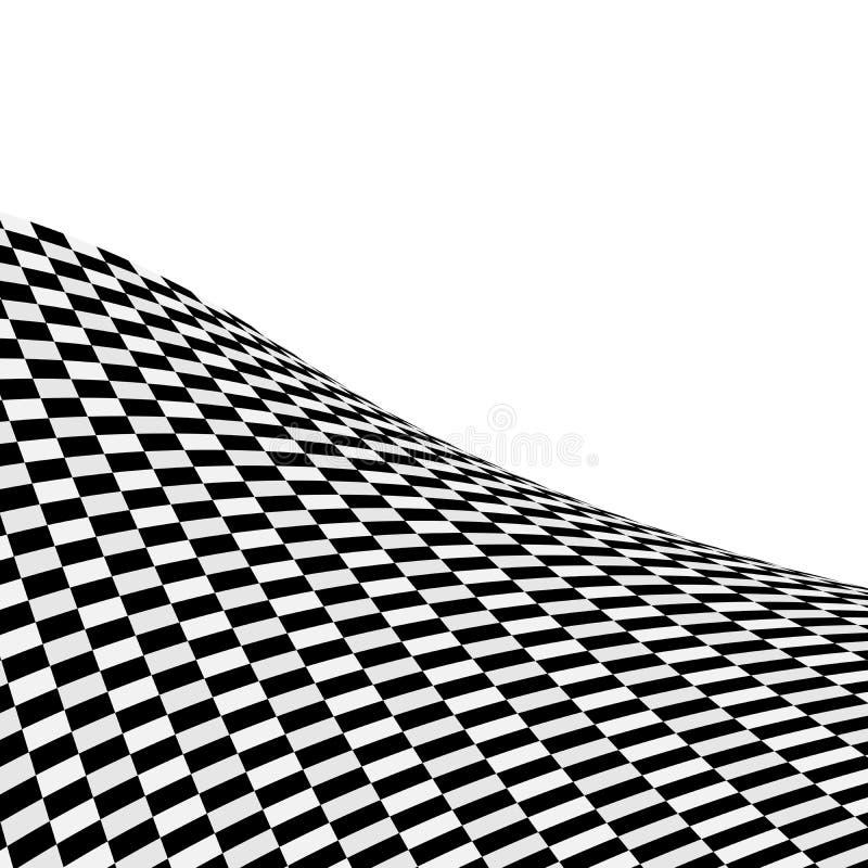 背景黑色被检查的白色 向量例证