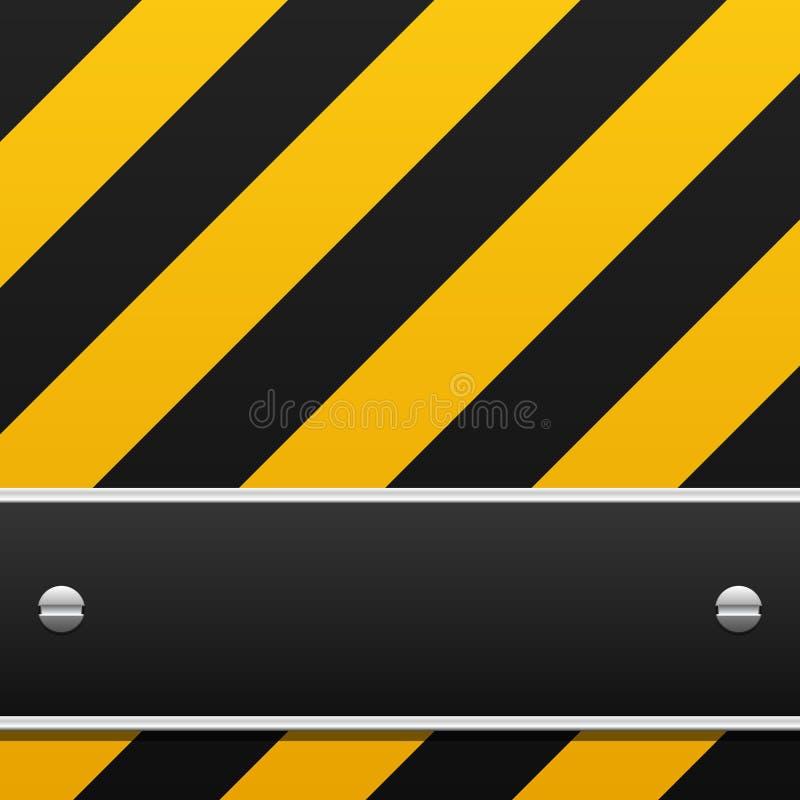 背景黑色警告黄色 向量例证